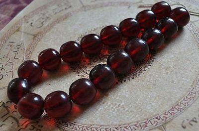 Antique African Trade Beads-Simulated Amber Strand