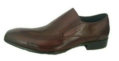 Men`s Real Leather Tan Brown Loafers by Kenneth Cole New York Formal Smart Shoes