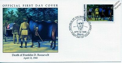 1945 FUNERAL CORTEGE OF FRANKLIN D. ROOSEVELT - RIDERLESS HORSE WWII Stamp FDC