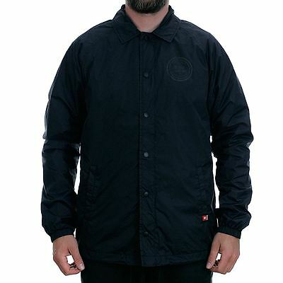Dc Shoes Core Coach Jacket Black Rare Limited New Free Delivery