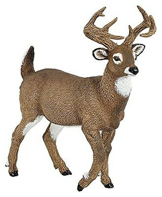 Papo 53021 Whitetail Deer Buck Model Wild Animal Figurine Replica Toy 2016 - NIP