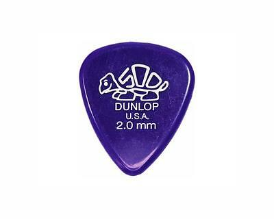 jim dunlop plettri delrin 2.00 extra heavy guitar picks set 12 ww ship