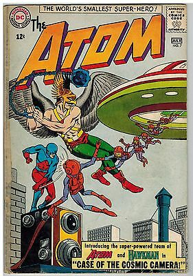 The Atom #7 1963 1St Atom And Hawkman Team-Up Dc Silver Age!