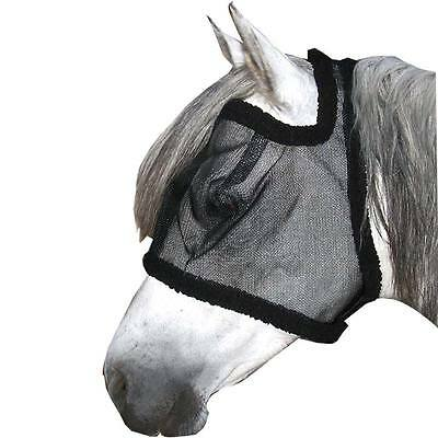 USG Fly mask without Ear protection - black Horse Bow tie fly mask
