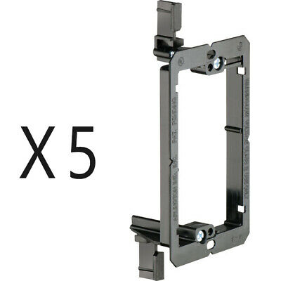 5 Pack - 1-Gang Drywall Bracket Face Wall Plate Mount Mud Ring Low Voltage LV1