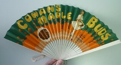 Original 1910's Canadian Cowan's Maple Buds Chocolate Advertising Premium Fan