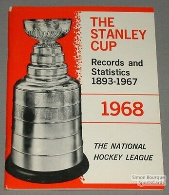 Original 1893-67 The Stanley Cup Records & Stats. Book