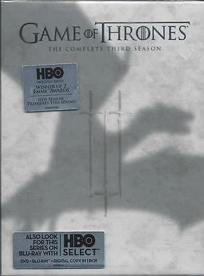 Game of Thrones Complete 3rd Season HBO Original Series DVDs Winner 2 Emmys NEW