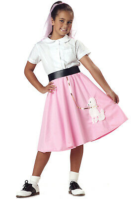 Child 50's Pink Poodle Skirt Grease Costume