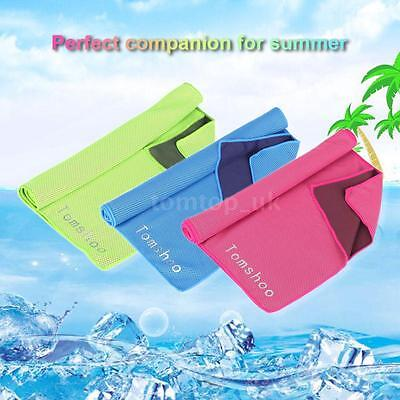 Microfiber Reusable Chill Heat Relief Sports Compact Towel Fitness Gym UK S2O2