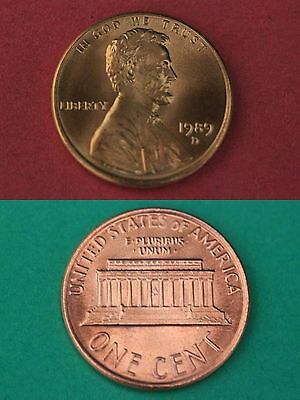 1989 D Lincoln Memorial Cent Gem Brilliant Uncirculated Combined Shipping