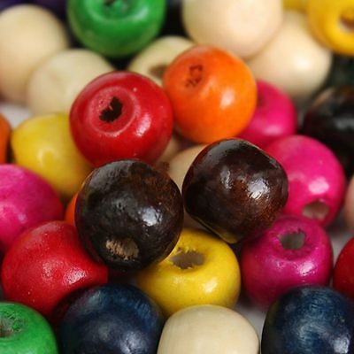 1000pcs BARGAIN PRICE WHILE STOCK! Wooden Round Beads Loose Crafts Colour Choice