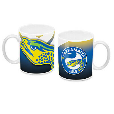 NRL Parramatta Eels Steel Thermal Insulated Travel Coffee Mug with Handle Gift