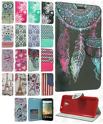 on sale 0c350 cc074 FOR CRICKET ZTE Sonata 3 Z832 Premium Leather Wallet Case Pouch Flip Phone  Cover