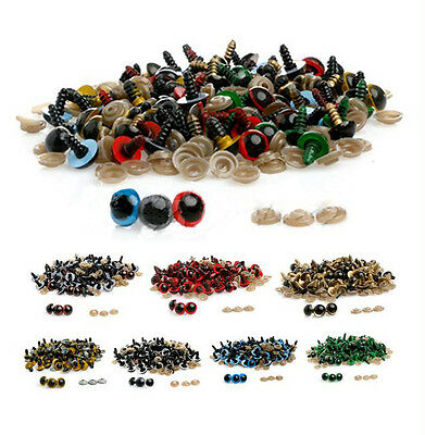 100pcs 10-18mm Color Plastic Safety Animal Eyes For Animal Toys Puppet Craft