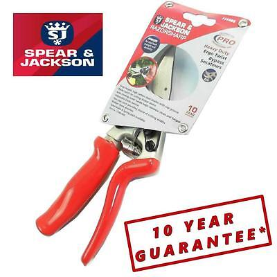SPEAR & JACKSON Professional Heavy Duty Bypass Secateurs Rotating Handle NA48