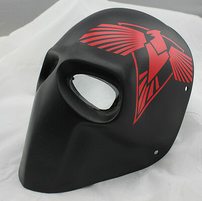 Red Eagle Full Face PC Lens Eye Protection Black Mask For Paintball Airsoft Game
