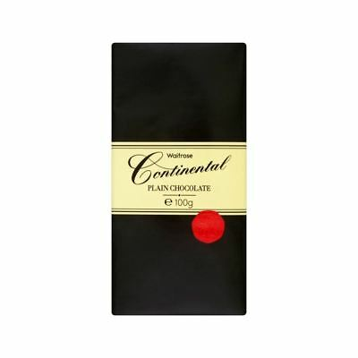Continental Plain Chocolate Waitrose 100g