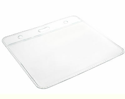 Clear ID Card Badge Pass Holder Pocket Plastic Wallet (Size 102 X 83mm) FREEPOST