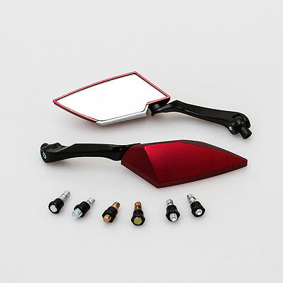 Universal Red 8/10mm Motorcycle Scooter Mirrors Pair