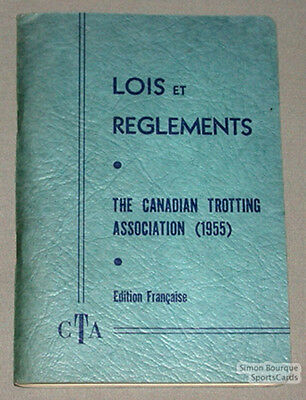 Orig. 1955 The Canadian Trotting Association Rules Book