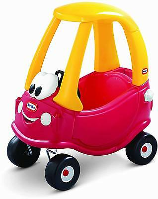 Little Tikes COSY COUPE CLASSIC Red Yellow Plastic Garden Car Ride On Kid BN