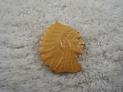 Beige Indian Chief Head Pin (A46)