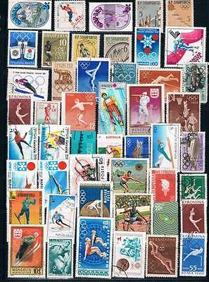 Lot Of 300+ Worldwide Olympic Used + Mint Stamps