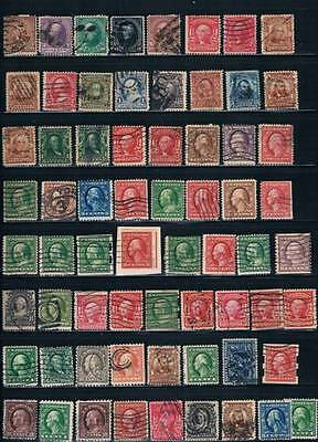 Lot Of 1400+ US 1880's-1950's Used Stamp Collection