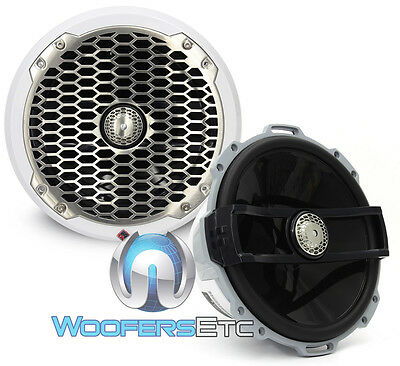 "Rockford Fosgate M282 W 8"" White Marine 2-Way Aluminum Tweeters Boat Speakers"