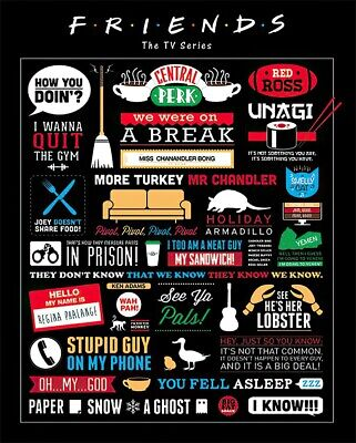 Friends - Mini Tv Show Poster / Print (Infographic - Logos, Quotes & Pictos)