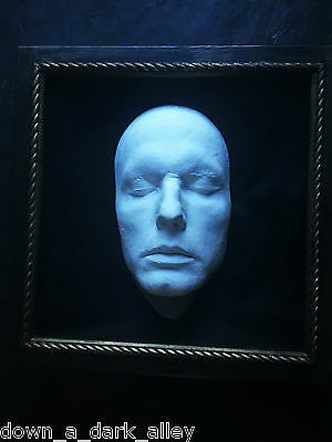 Framed Death Mask - Memento Mori - Postmortem - Gothic - Cabinet of Curiosity