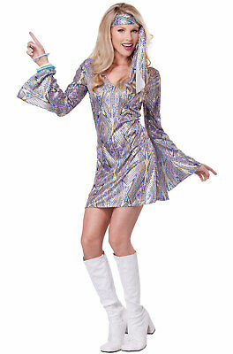 70's Disco Dance Sensation Dancing Queen Outfit Adult Costume