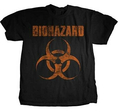 BIOHAZARD Distressed Logo T SHIRT S-M-L-XL-2XL New Official Hi Fidelity Merch
