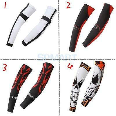 2pcs Men's Arm Cuff UV Sun Protection Sleeves Cover for Golf Basketball Cycling