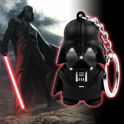 Star Wars Darth Vader Light Up LED with Sound Keyring KeyChain Key Chain Gift