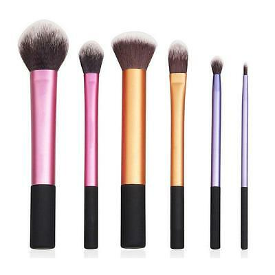 6Pcs Professional Real Makeup Brushes Core Collection Starter Techniques Kit