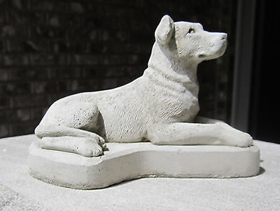 Concrete Pit Bull Terrier Statue Or Use As A Monument / Memorial