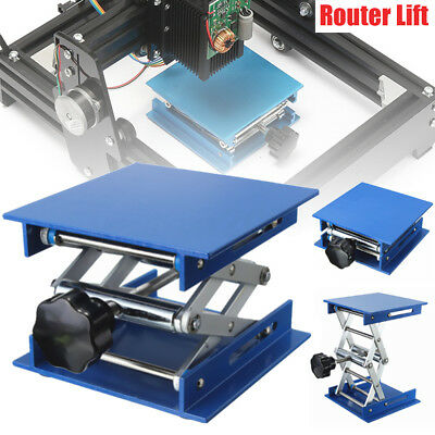 "4x4"" Router Lifting Platform Woodworking Stand Lab-Lift Rack Aluminum H4cm-15cm"