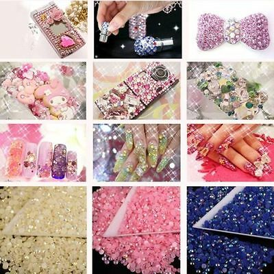 2000Flat Back Rhinestones Acrylic Gems Diamante Crystals For Craft / Nail Art3MM