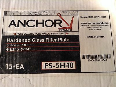 (1 Box Of 12) Anchor Fs-5H-10 Hardened Glass Filter Plate