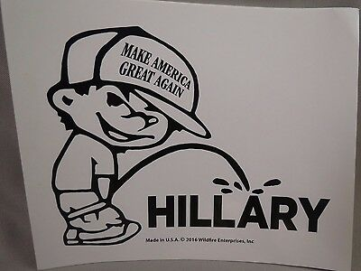 Lot Of 10 Trump Piss On Anti Hillary Bumper Sticker Make America Great Again Hat