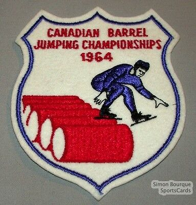 1964 Canadian Barrel Jumping Championships Patch