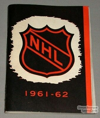 1961-62 NHL Official Media Guide