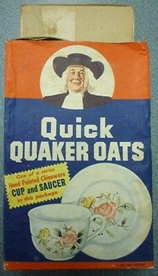 1950's Quick Quaker Oats Chinaware Cup And Saucer Box