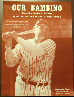 1948 Our Bambino Baseball's National Anthem Issue