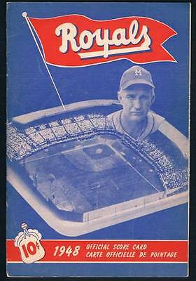 1948 Montreal Royals Program Chuck Connors Don Newcombe