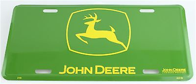 John Deere Logo Green Embossed Metal License Plate Tag