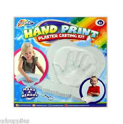 Hand Print Plaster Cast Casting Kit With Heart Mould For Children Baby 16-0406