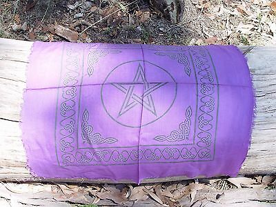 PENTACLE ALTAR TAROT CLOTH 558 mm Wicca Pagan Witch Goth Punk Ritual Pentagram